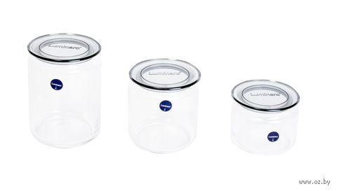 Набор банок для сыпучих продуктов (3 шт.; арт. N3454) — фото, картинка