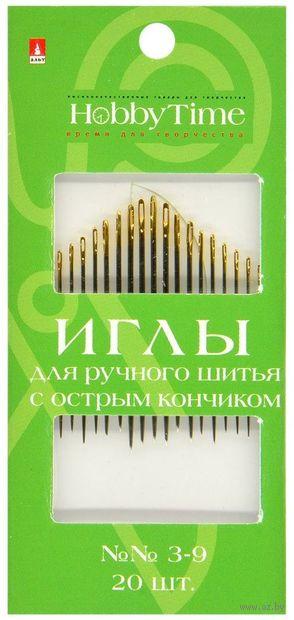 Иглы для шитья №3-9 (20 шт.; арт. 2-688/02) — фото, картинка