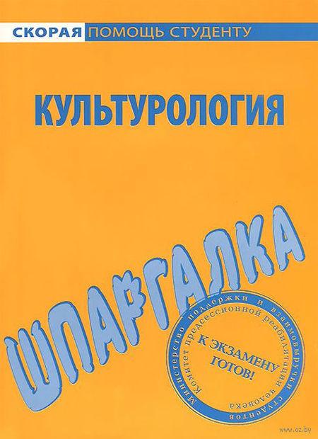 Культурология. Шпаргалка. Андрей Руденко