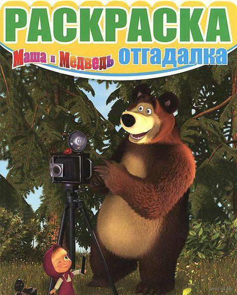 Маша и Медведь. Раскраска-отгадалка (Медведь с фотоаппаратом) — фото, картинка