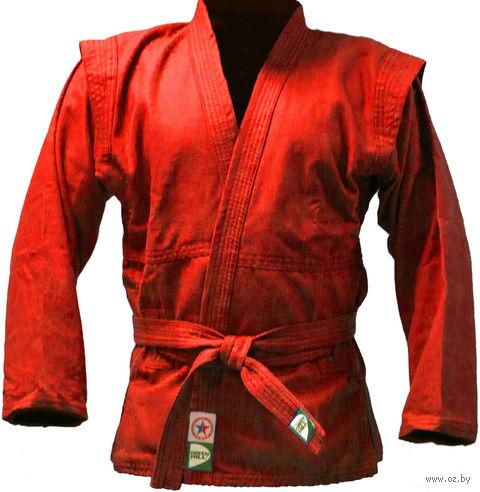Куртка для самбо JS-302 (р. 4/170; красная) — фото, картинка