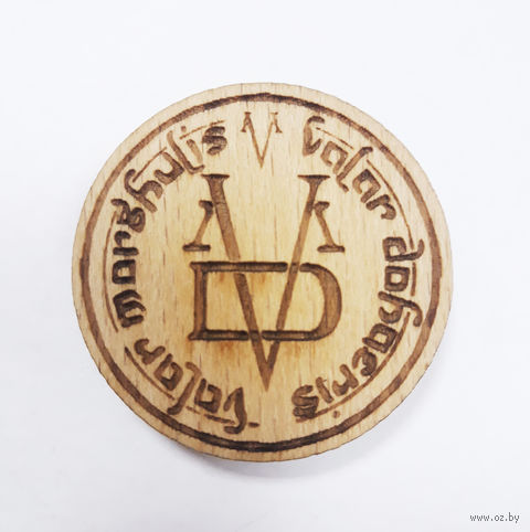"""Значок деревянный """"Игра Престолов. Valar Morghulis"""" — фото, картинка"""
