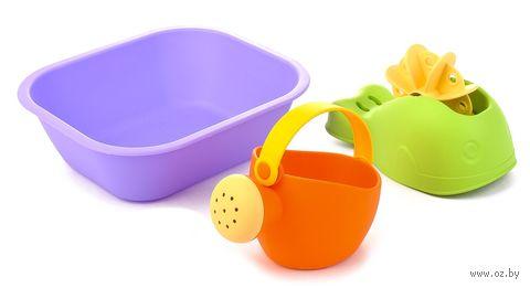 """Набор игрушек для купания """"Ванночка, кит и лейка"""" (3 шт.) — фото, картинка"""