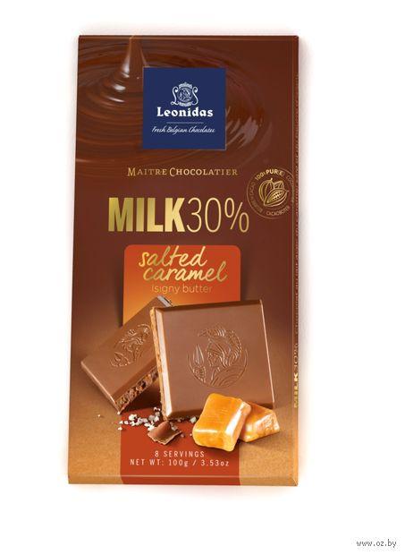 """Шоколад молочный """"Leonidas. С соленой карамелью"""" (100 г) — фото, картинка"""