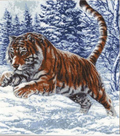 """Вышивка крестом """"Прыжок тигра"""""""