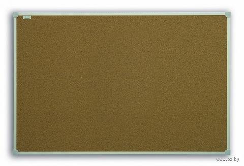 Доска пробковая (размер: 60x90 см, в рамке C-line)