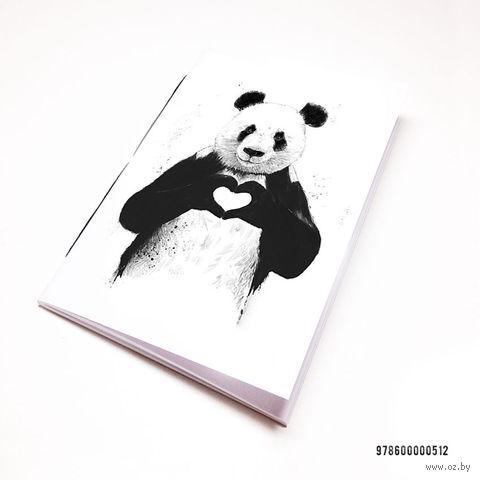 """Блокнот белый """"Панда"""" А7 (512)"""