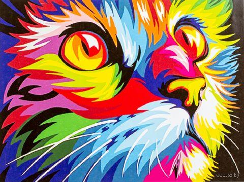 "Картина по номерам ""Кошачий взгляд"" (300х400 мм) — фото, картинка"