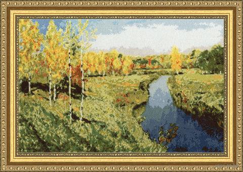 """Вышивка крестом """"Золотая осень"""" (230x350 мм) — фото, картинка"""