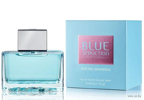 """Туалетная вода для женщин Antonio Banderas """"Blue Seduction"""" (80 мл) — фото, картинка"""