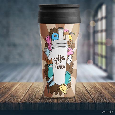 "Термостакан ""Coffee time"" — фото, картинка"
