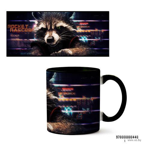 """Кружка """"Стражи галактики. Rocket Raccoon"""" (черная) — фото, картинка"""