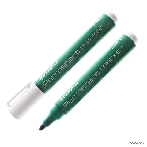 """Маркер-перманент """"Darvish"""" DV-420 (зеленый; 1,5 мм)"""