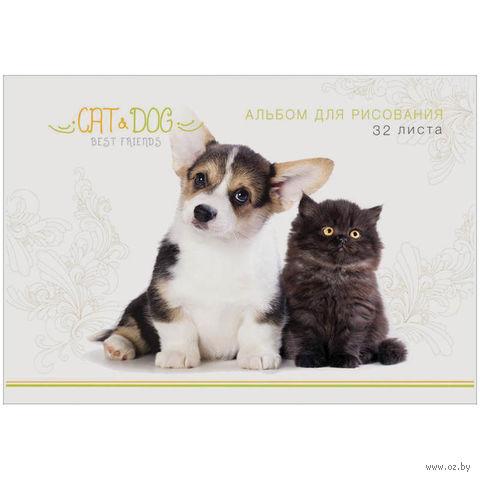 """Альбом для рисования А4 """"Питомцы. Best Friends"""" (32 листа)"""