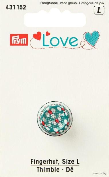 """Наперсток """"Love"""" (металл; 17 мм) — фото, картинка"""