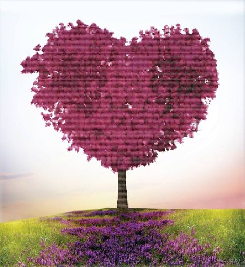 """Вышивка крестом """"Безмятежная любовь"""" (490х530 мм) — фото, картинка"""