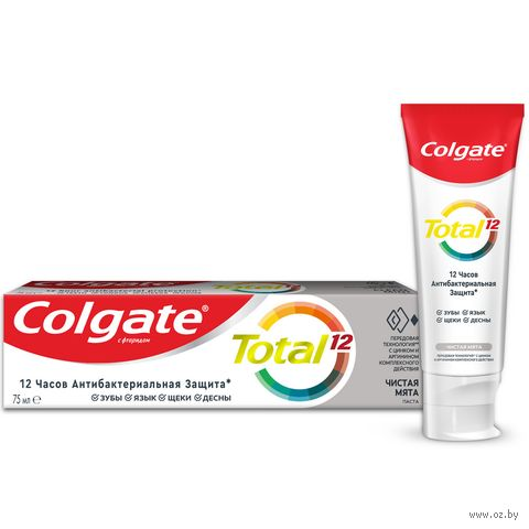 "Зубная паста ""Total 12 Антибактериальная. Чистая мята"" (75 мл) — фото, картинка"