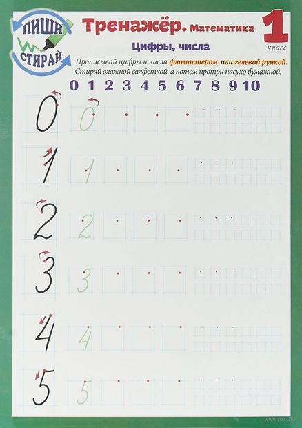 Тренажёр. Математика. Цифры, числа. 1 класс — фото, картинка