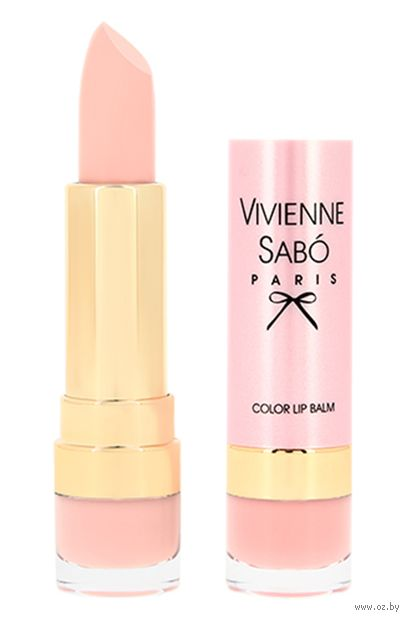 """Помада-бальзам для губ """"Color Lip Balm"""" тон: 01, светло-бежевый — фото, картинка"""