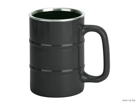 """Кружка """"Баррель"""", черная (400 мл)"""