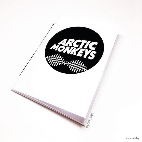 "Блокнот белый ""Arctic Monkeys"" А6 (065)"