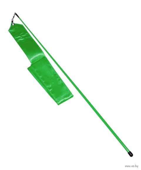Лента для художественной гимнастики АВ228 (зелёная) — фото, картинка