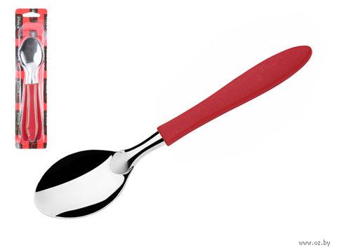 """Ложка столовая металлическая """"Prisma"""" (3 шт.; красная) — фото, картинка"""