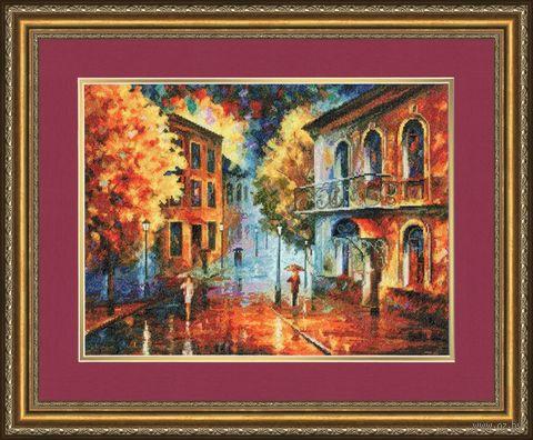 """Вышивка крестом """"Осенний вечер"""" (285х378 мм) — фото, картинка"""