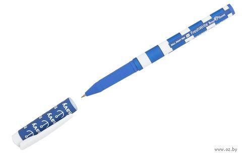 """Ручка шариковая синяя """"Морская"""" (0,7 мм) — фото, картинка"""