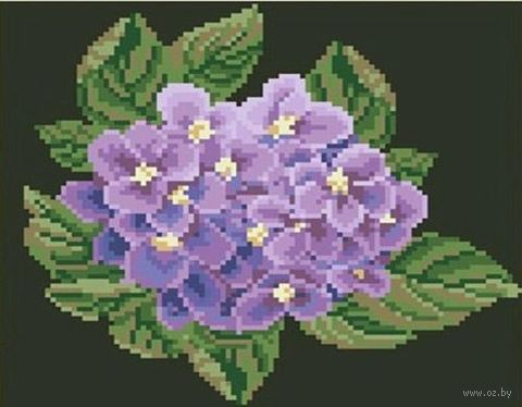 "Алмазная вышивка-мозаика ""Цветок гортензии"" (250х230 мм) — фото, картинка"