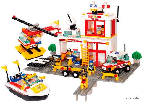 """Конструктор """"Пожарно-спасательная станция"""" (463 детали) — фото, картинка"""