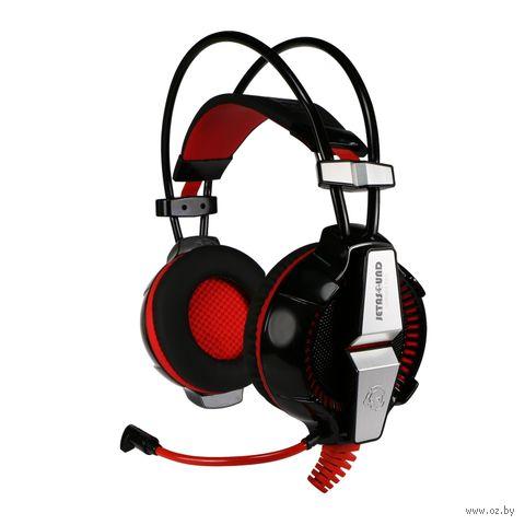 Гарнитура игровая Jet.A GHP-400 Pro (черно-красная) — фото, картинка