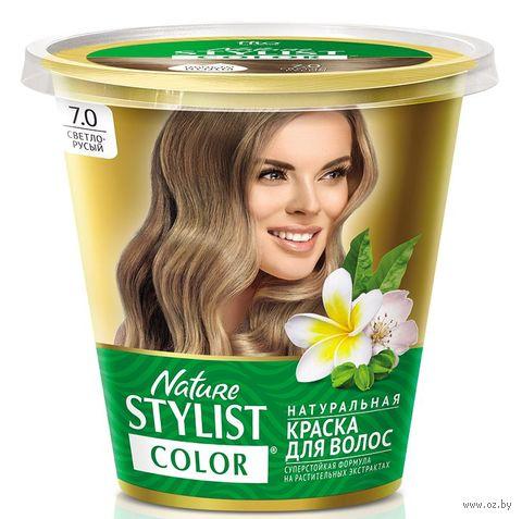 """Краска для волос """"Nature Stylist Color"""" тон: 7.0, светло-русый — фото, картинка"""
