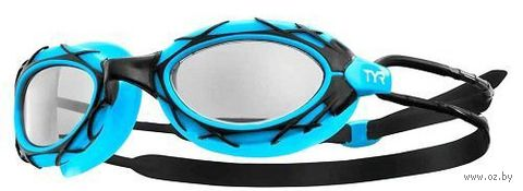 Очки для плавания (голубо-чёрные; арт. LGNST/420) — фото, картинка