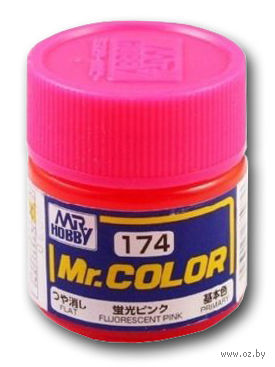 Краска Mr. Color (fluoresent pink, C174)