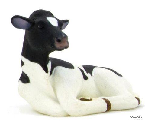 """Фигурка """"Animal Planet: Гольштинский теленок лежит"""" (4 см)"""