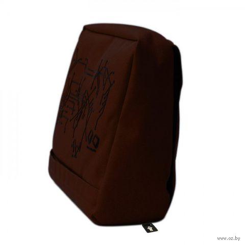 """Подушка-подставка с карманом для планшета """"Hitech"""" (шоколад, черная)"""