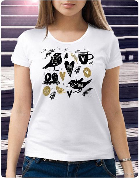 """Футболка женская """"Love bird set"""" XL (art.42)"""