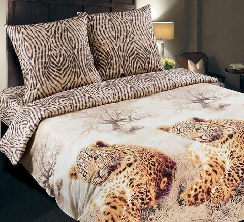 """Постельное белье """"Леопард"""" (двуспальное с европростыней) — фото, картинка"""