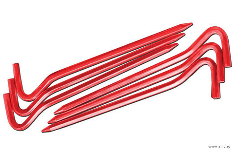 Комплект колышков шестигранных v. 2 (красный) — фото, картинка