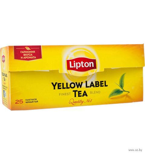 """Чай черный """"Lipton. Yellow Label"""" (25 пакетиков) — фото, картинка"""