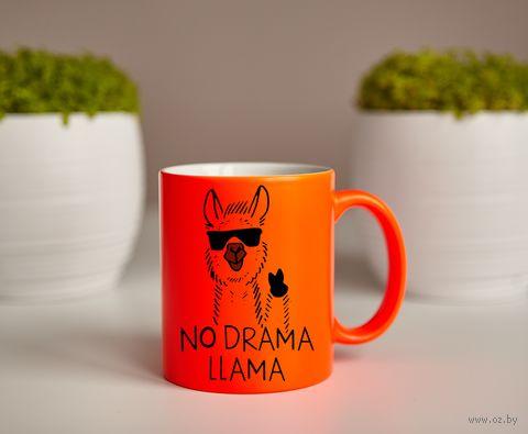"""Кружка """"Лама"""" (оранжевая) — фото, картинка"""