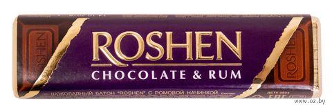 """Шоколад темный """"Roshen. Ромовая начинка"""" (43 г) — фото, картинка"""
