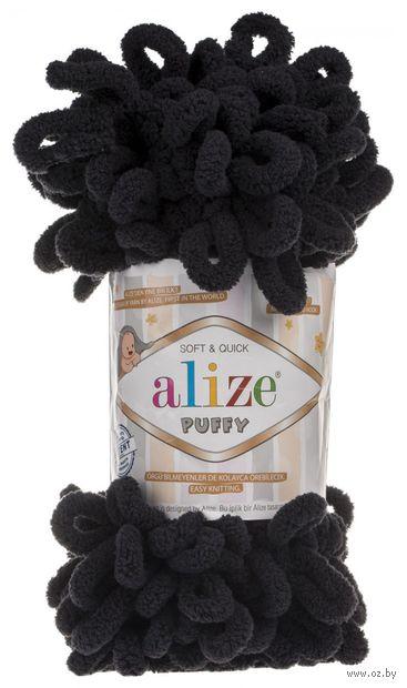 "Пряжа ""ALIZE. Puffy №60"" (100 г; 9,2 м; черный) — фото, картинка"