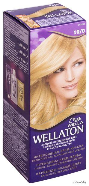 """Крем-краска для волос """"Wellaton. Интенсивная"""" тон: 10/0, сахара — фото, картинка"""