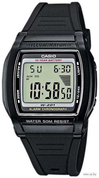 Часы наручные (чёрные; арт. W-201-1A) — фото, картинка