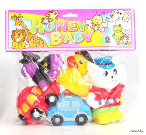 """Набор игрушек для купания """"Машины и звери"""" (5 шт)"""