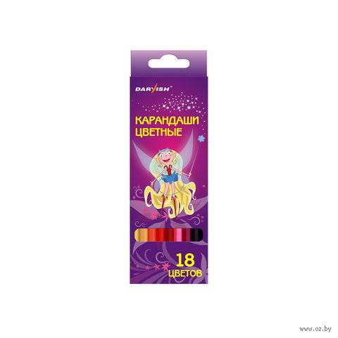 """Цветные карандаши """"Darvish"""" пластиковый корпус (18 цветов; арт. DV-1069-18)"""