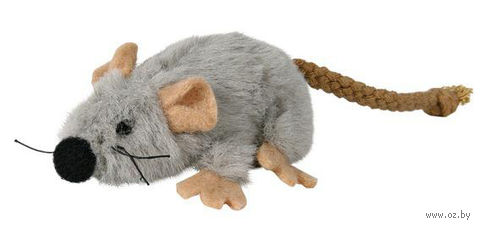 """Игрушка для кошек с кошачьей мятой """"Мышь"""" (7 см) — фото, картинка"""