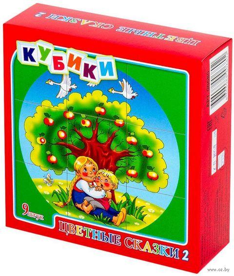 """Кубики """"Цветные сказки-2"""" (9 шт.) — фото, картинка"""